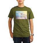 Dog Angel / Pit Bull Organic Men's T-Shirt (dark)