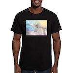 Dog Angel / Pit Bull Men's Fitted T-Shirt (dark)