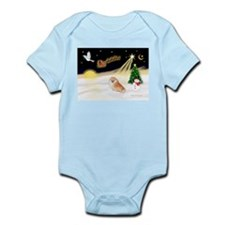 Night Flight/Pomeranian #2 Infant Bodysuit