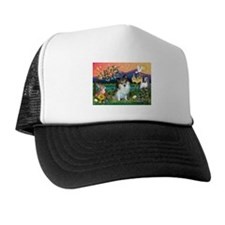 Fantasy Land /Pomeranian(s&w) Trucker Hat