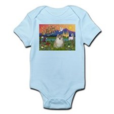 Pomeranian in Fantasyland Infant Bodysuit