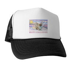 Clouds & Pomeranian Angel Trucker Hat