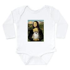 Mona Lisa & Pom (#1) Long Sleeve Infant Bodysu