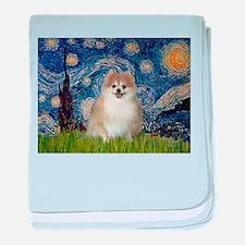 Starry/Pomeranian (#1) baby blanket