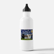 Starry/3 Pomeranians Water Bottle