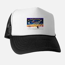 XmasSunrise/2 Poodles Trucker Hat