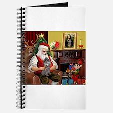 Santa's Silver Toy Poodle Journal