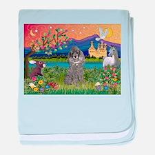 Silver Poodle Fantasy baby blanket