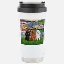 Lilies #2/3 Poodles (TM) Stainless Steel Travel Mu