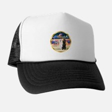 XmasMagic/2 Std Poodles Trucker Hat
