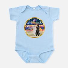 XmasMagic/2 Std Poodles Infant Bodysuit