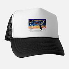 XmasSunrise/Std Poodle Trucker Hat