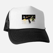 Night Flight/Poodle (Std) Trucker Hat