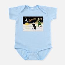 Night Flight/Poodle (Std) Infant Bodysuit