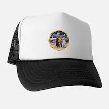 XmasStar/3 Poodles Std Trucker Hat