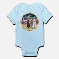 XmasStar/3 Poodles Std Infant Bodysuit