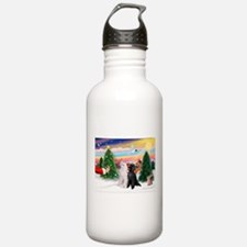 Treat/Two Poodles (ST) Water Bottle