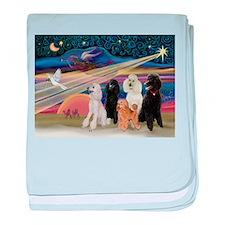 XmasStar/5 Poodles baby blanket