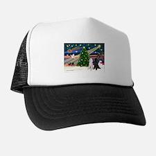 XmasMagic/2 Poodles (st) Trucker Hat