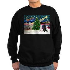 XmasMagic/2 Poodles (st) Sweatshirt