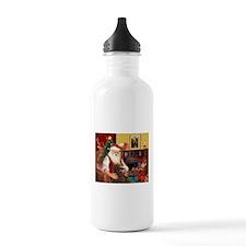 Santa's Std Poodle(c) Water Bottle