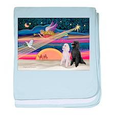 XmasStar/2 Poodles-STBW baby blanket
