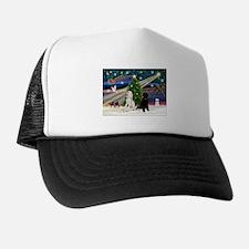 XmasMagic/2 Poodles (P2) Trucker Hat