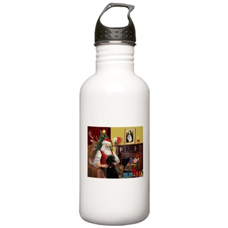 Santa's Poodle (ST-B4) Stainless Water Bottle 1.0L