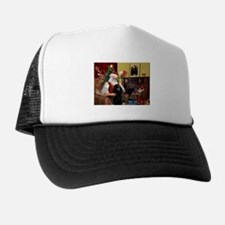 Santa's Poodle (ST-B2) Trucker Hat