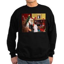 Santa's 2 Std Poodles Sweatshirt