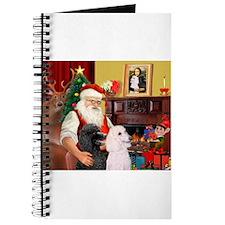 Santa's 2 Std Poodles Journal