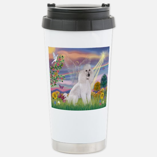 Cloud Angel White Poodle Stainless Steel Travel Mu