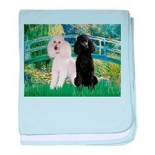 Bridge & Poodle Pair baby blanket