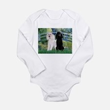 Bridge & Poodle Pair Long Sleeve Infant Bodysuit