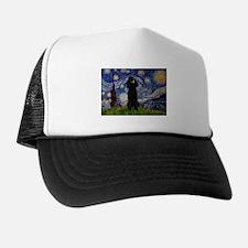 Starry Night Black Poodle (ST Trucker Hat
