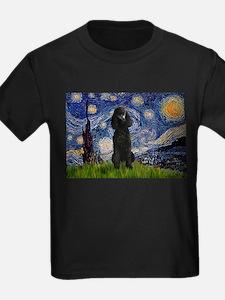 Starry Night Black Poodle (ST T