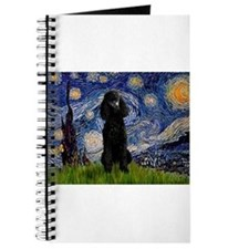 Starry Night Black Poodle (ST Journal