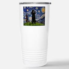 Starry Night Black Poodle (ST Travel Mug