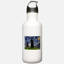Starry Night Black Poodle (ST Water Bottle
