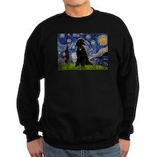 Starry Night Black Poodle Sweatshirt