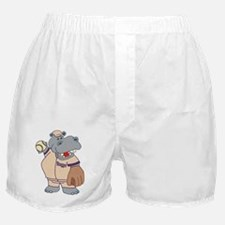 Softball Hippo Boxer Shorts