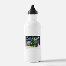 Xmas Magic & Black Pug Water Bottle