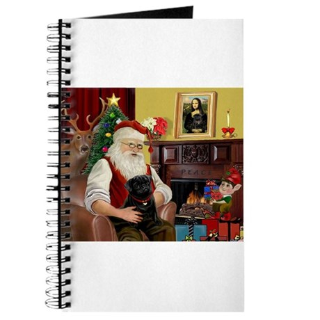 Santa's Black Pug Journal