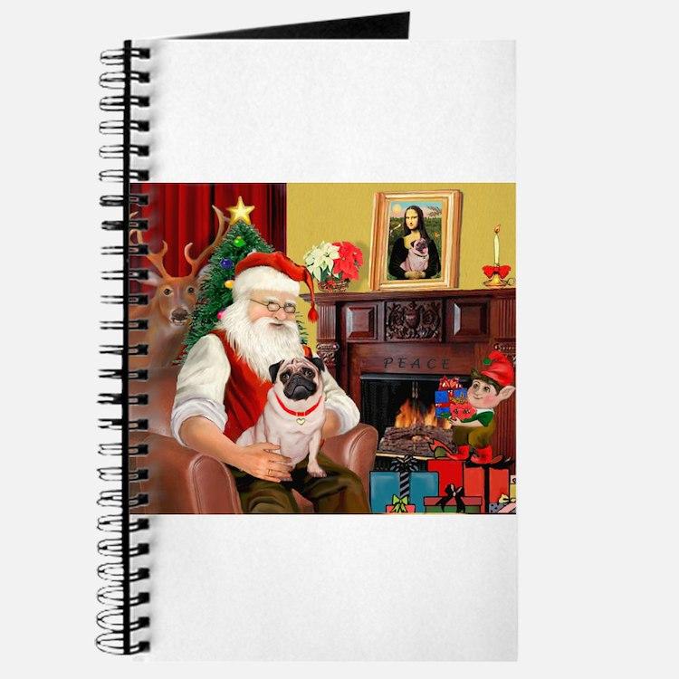 Santa's fawn Pug (#21) Journal