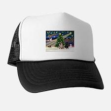 X Mas Magic & Pug Pair Trucker Hat