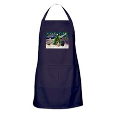 X Mas Magic & Pug Pair Apron (dark)