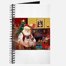 Santa's fawn Pug pair Journal