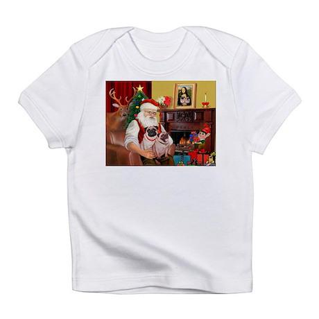 Santa's fawn Pug pair Infant T-Shirt