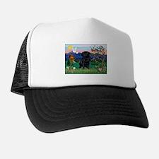 Pagoda & Black Pug Trucker Hat