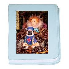 Queen & Sir Pug baby blanket